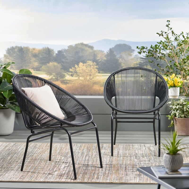 Indira Outdoor Modern Patio Chair