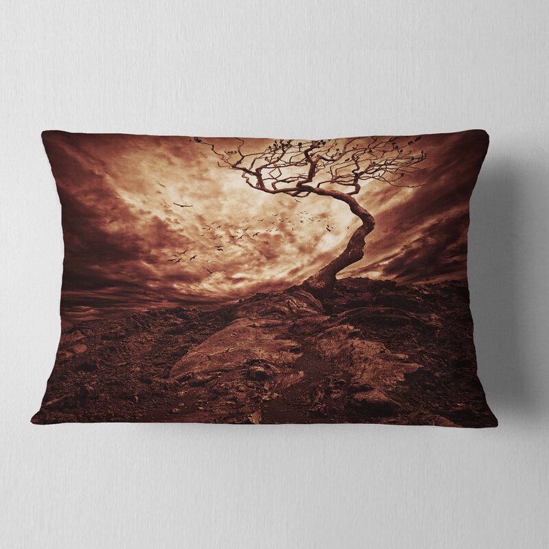 East Urban Home Dramatic Sun Over Lone Tree Lumbar Pillow Wayfair