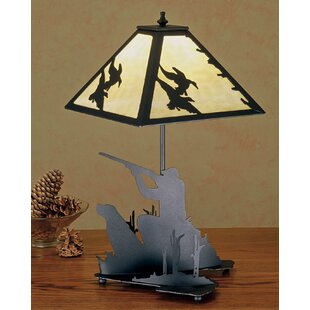 Duck Hunter with Dog 20 Table Lamp