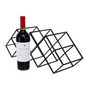 Mayna Geometric 7 Bottles Tabletop Wine B..