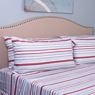 Bradley Stripe 4 Piece Microfiber Sheet Set