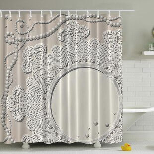 Reviews Pearls Mirror Lace Print Shower Curtain ByAmbesonne