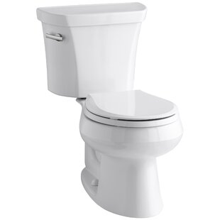 Kohler Wellworth Two-Piece Round-Front 1.6 GPF Toilet with Class Five Flush Technology and Left-Hand Trip Lever