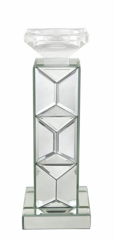 castleton home kerzenhalter mirror aus glas. Black Bedroom Furniture Sets. Home Design Ideas