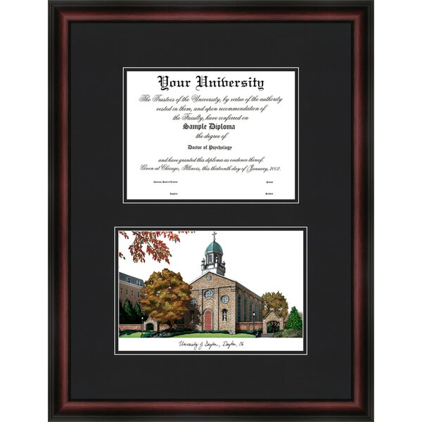 Campus Images University of Illinois Urbana-Champaign 11w x 8.5h Gold Embossed Diploma Frame