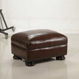 Darby Home Co Ranold Leather Ottoman