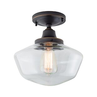Wydra 1-Light Semi Flush Mount