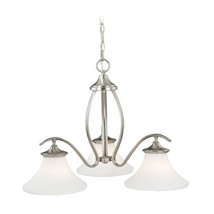 Fleur De Lis Living Bryker Woods 3-Light Shaded Chandelier