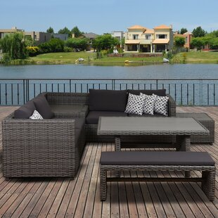 Delicia 5 Piece Sectional Set with Cushions