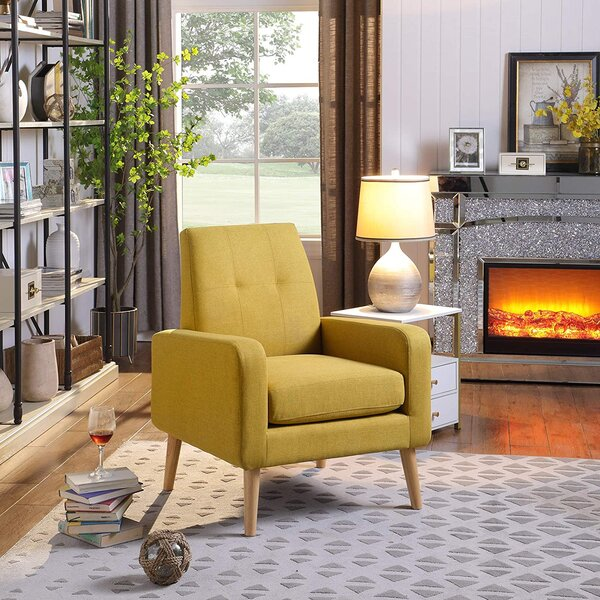 george oliver accent chair modern arm chair upholstered