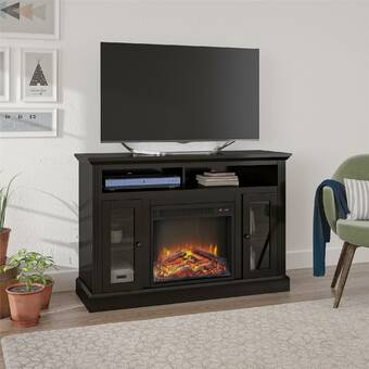 Zipcode Design Kohn Tv Stand For Tvs Up To 65 With Electric Fireplace Included Reviews Wayfair