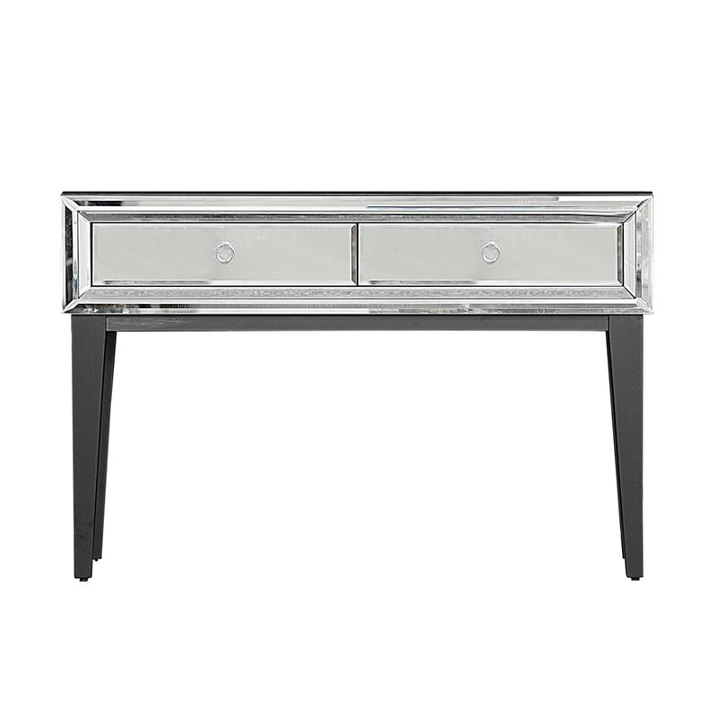 Everly Quinn Mila Mirrored Console Table Wayfair