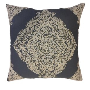 Hinton Charterhouse Embroidered Decorative Cotton Throw Pillow