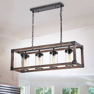 Best Reviews Cope 4-Light Rectangular Chandelier By Williston Forge
