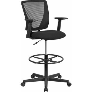 Price comparison Drinnon Mid-Back Mesh Drafting Chair by Ebern Designs Reviews (2019) & Buyer's Guide