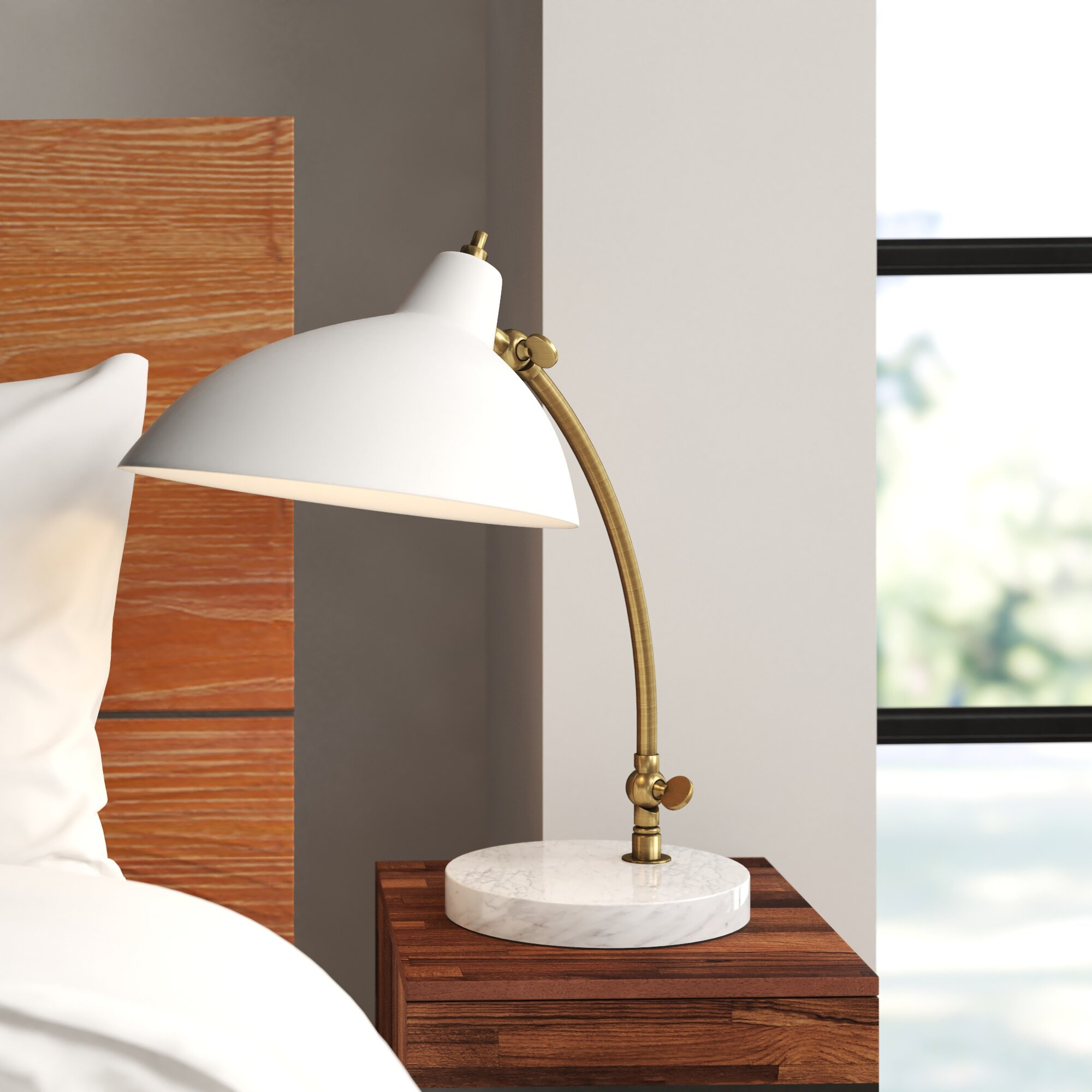 Picture of: Brigid 18 Arched Table Lamp Reviews Allmodern