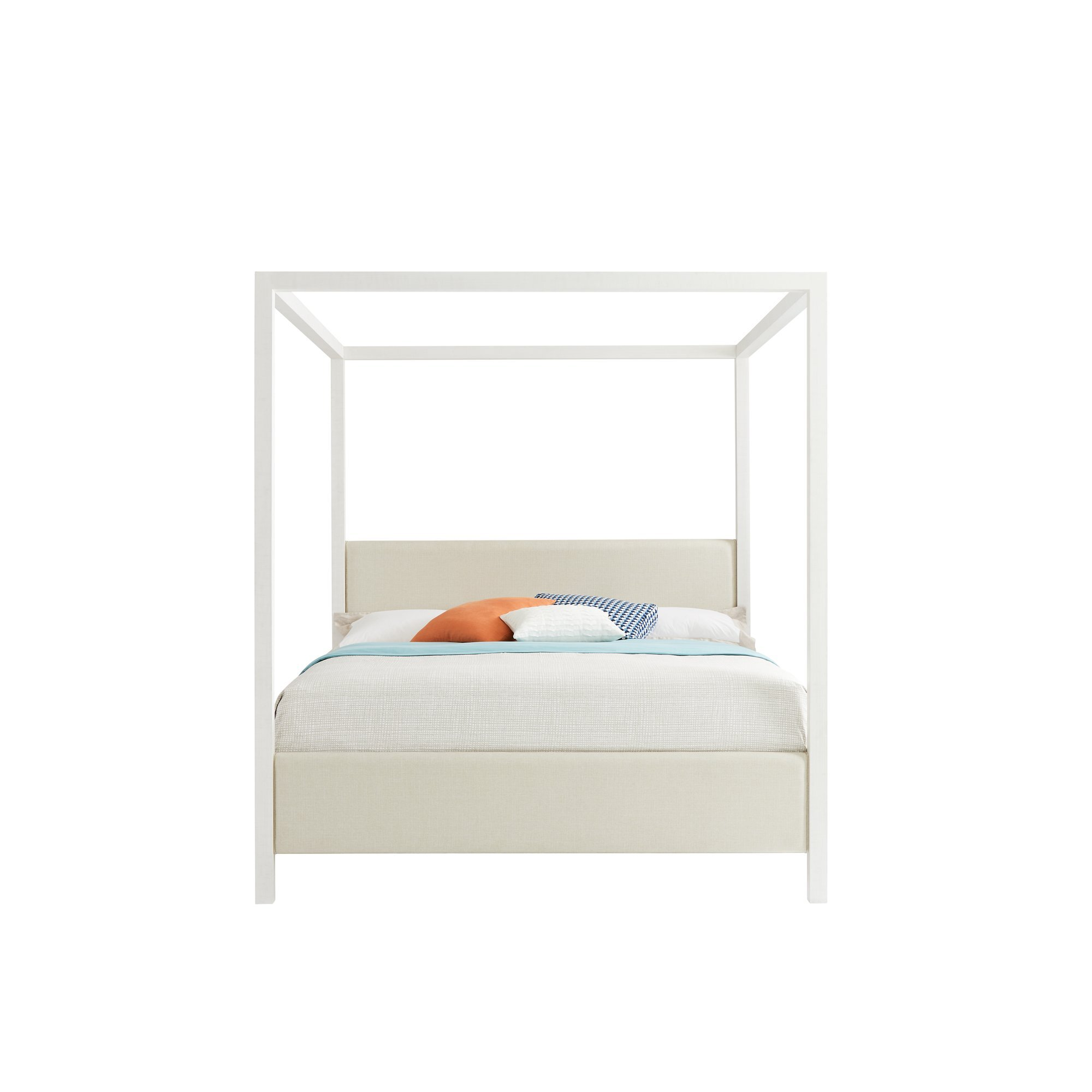 Upholstered White Canopy Beds You Ll Love In 2021 Wayfair