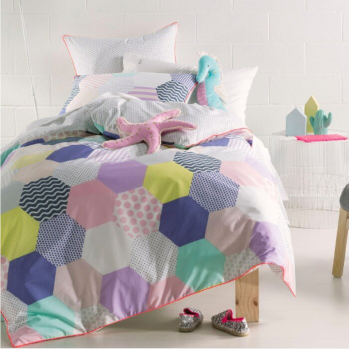 bedding first graphic in purple at bag set com home a ip daisy comforter bed walmart