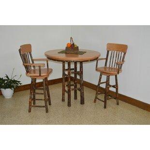 Yorba 3 Piece Solid Wood Dining Set