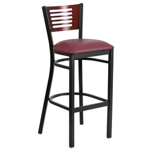 Chafin Slat Back Metal 32 Bar Stool Winston Porter