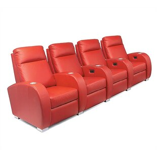 Olympia Home Theater Seating Row of 4 by Bass