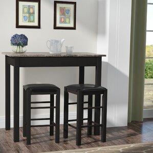 Prosser 3 Piece Counter Height Dining Set