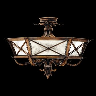 Fine Art Lamps Newport 3-Light Semi Flush Mount
