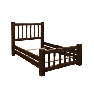 Trainor Rustic Barn Wood Style Mission Panel Bed by Loon Peak