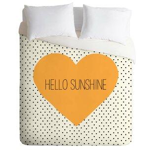 East Urban Home Hello Sunshine Heart Duvet Cover Set