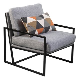 Compare prices Rosita Upholstered Armchair with Pillow by Brayden Studio Reviews (2019) & Buyer's Guide