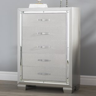 Check Prices Rocky 5 Drawer Chest By Harriet Bee