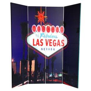 Las Vegas Poker 4 Panel Room Divider by East Urban Home