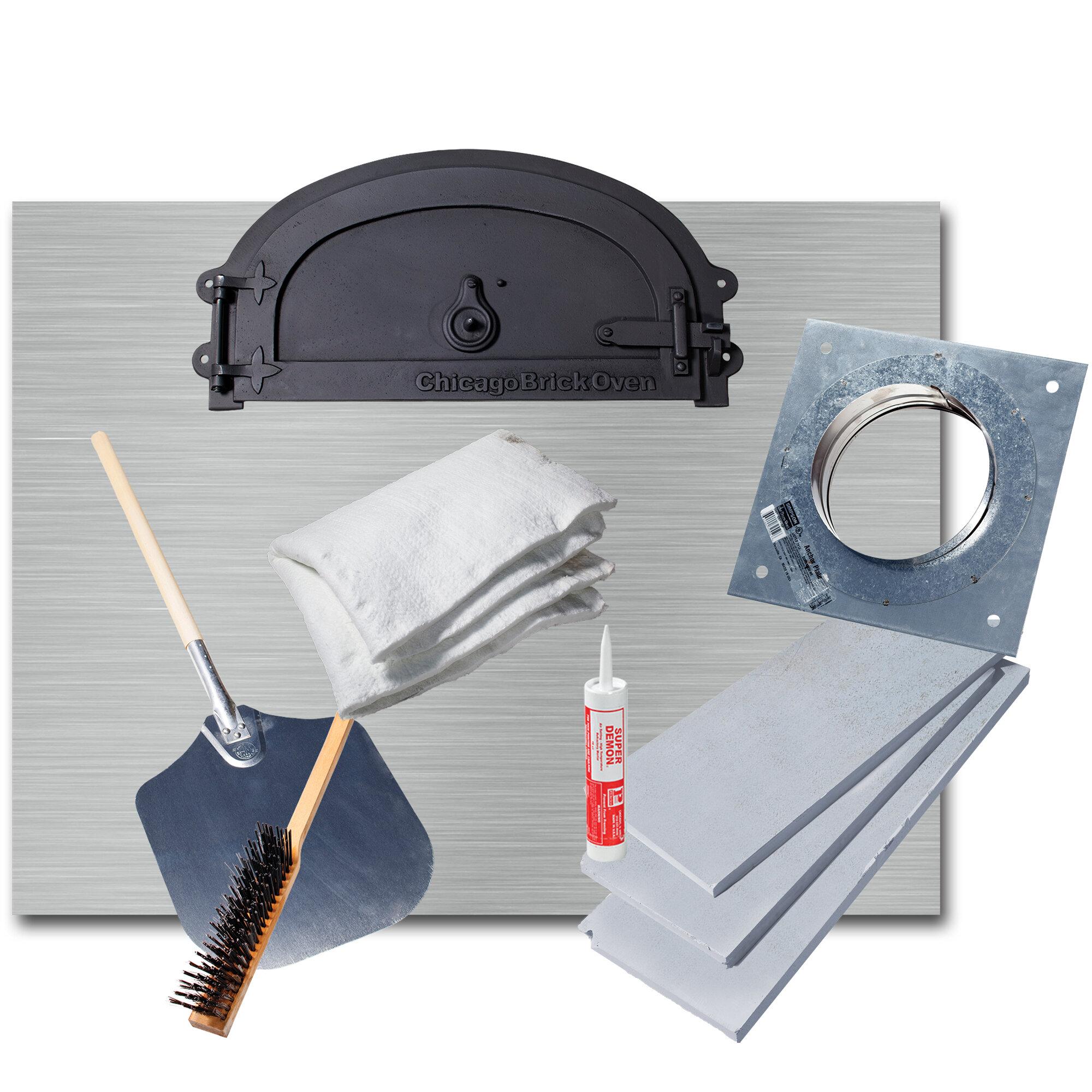 Chicago brick oven wood burning pizza oven kit wayfair solutioingenieria Gallery