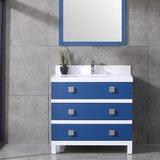 Eviva Sydney 36 Inch Blue and White Bathroom Vanity by Eviva
