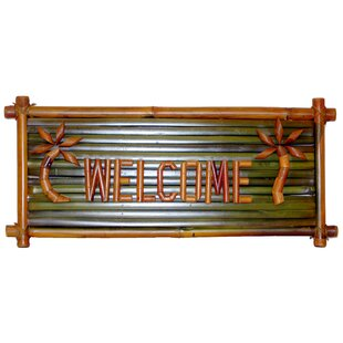 Porter Small Bamboo Welcome Garden Sign by Bay Isle Home