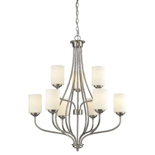 Weatherly 9-Light Shaded Chandelier by Charlton Home