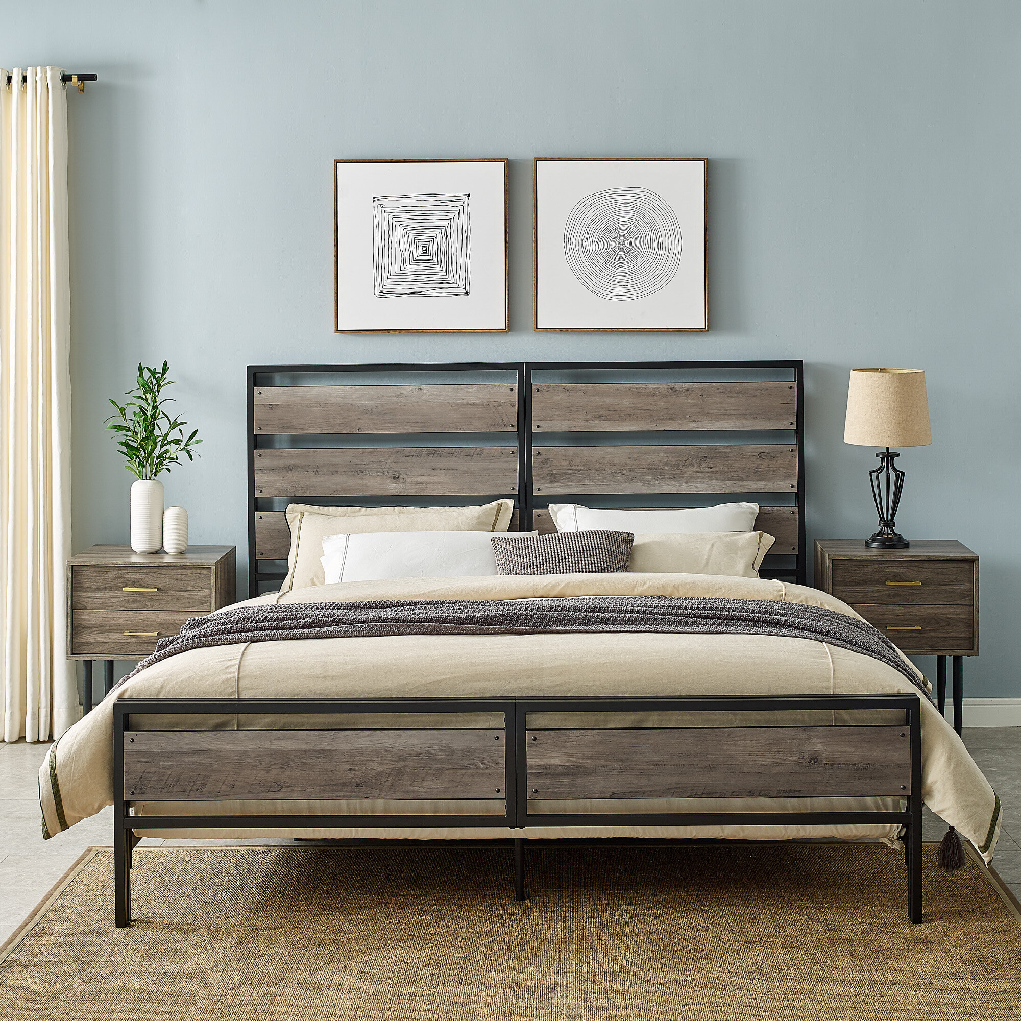Foundry Select Cammack King Low Profile Standard Bed Reviews Wayfair