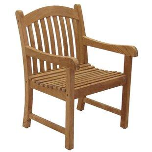 Elsmere Teak Patio Dining Chair (Set of 2)