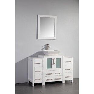Megara 48 inch  Single Bathroom Vanity Set with Mirror