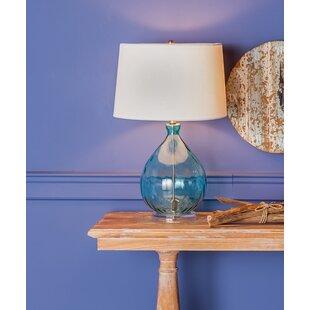 Breakwater Bay Croxton Table Lamp in Teal