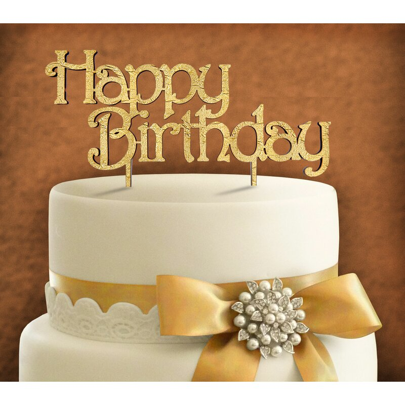 Sensational Amonogramartunlimited Happy Birthday Cake Topper Wayfair Funny Birthday Cards Online Elaedamsfinfo