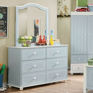 Cleo 6 Drawer Double Dresser with Mirror
