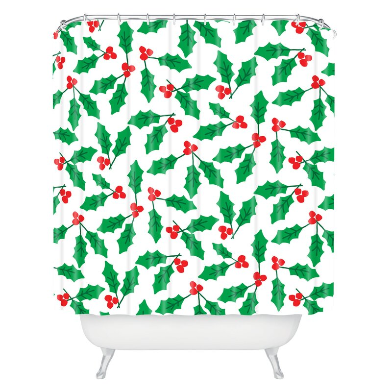 Holly Day Shower Curtain from Wayfair!