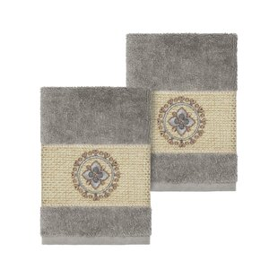 Roeder Embellished Turkish Cotton Washcloth (Set of 2)