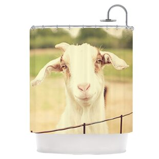Best Price Happy Goat Shower Curtain ByEast Urban Home