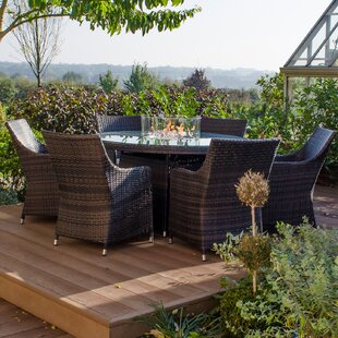 Goodrum 6 Seater Dining Set With Cushions By Sol 72 Outdoor