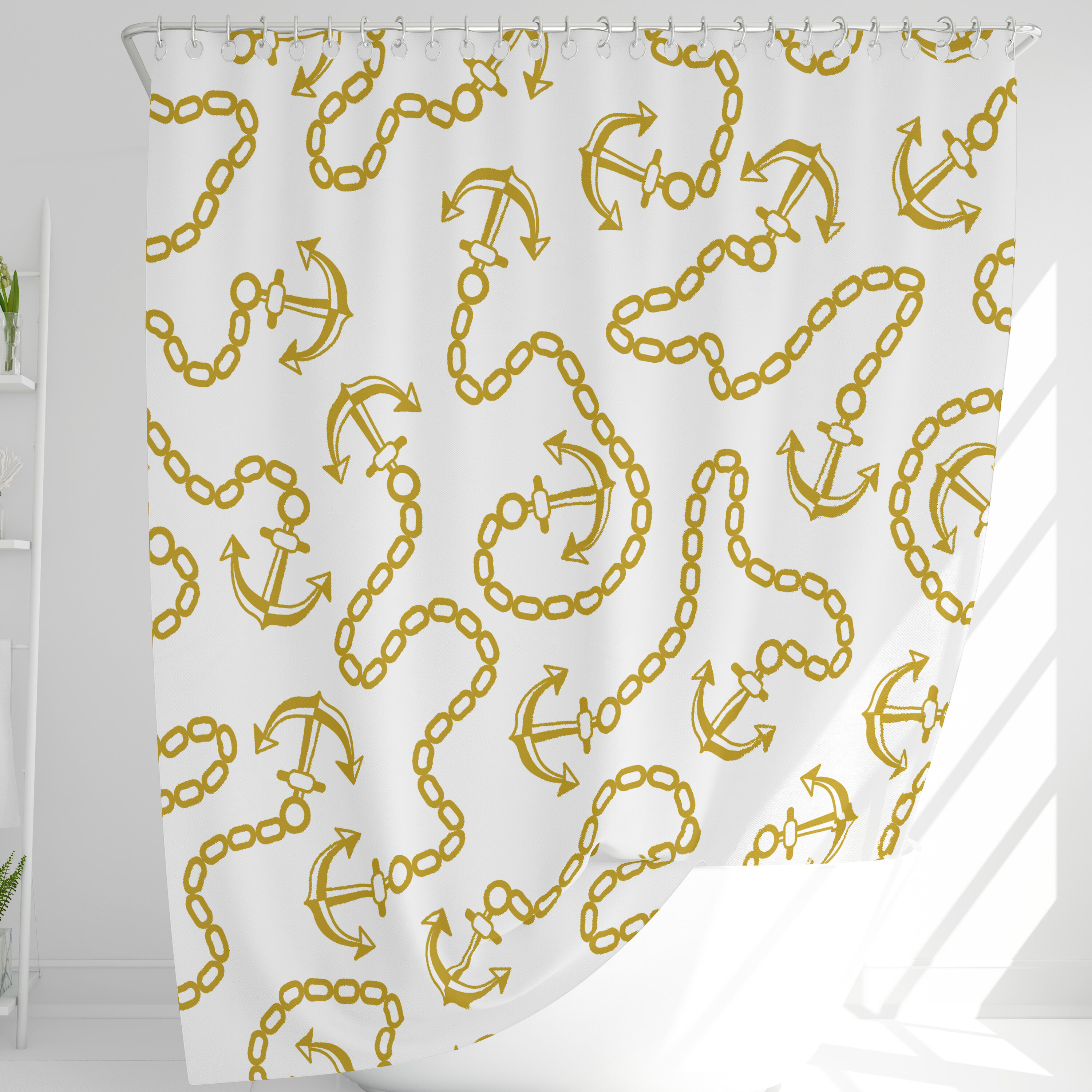 Hookless Nautical Shower Curtains Shower Liners You Ll Love In 2021 Wayfair