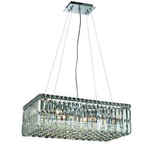 House of Hampton Langer 6-Light Crystal Chandelier