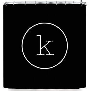 Simple Monogram Shower Curtain