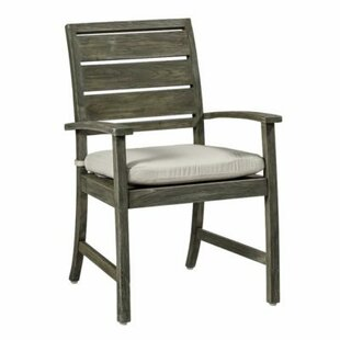 Charleston Teak Patio Dining Arm Chair with Cushion
